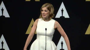 Oscars Nominee Luncheon 2015: Rosamund Pike Backstage Interview