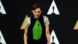 Oscars Nominee Luncheon 2015: Marion Cotillard Backstage Interview
