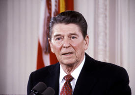 President Ronald Reagan in 1984
