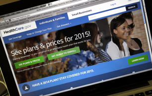 This Wednesday, Nov. 12, 2014 photo shows the HealthCare.gov website, where peop...