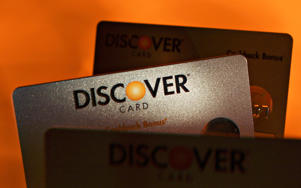 A Discover Financial Services credit cards.