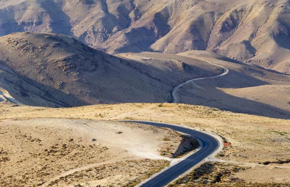 The Road to Mount Nebo, Jordan