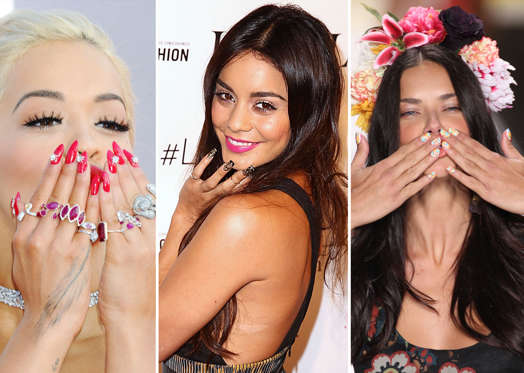 Slide 1 of 27: Celebrity nail art inspiration - Celebrity Nail Art Inspiration