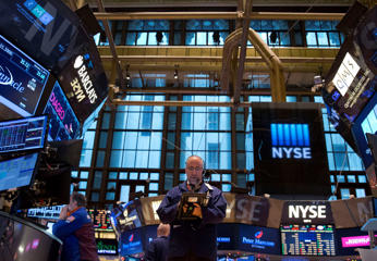 First Day Of Trading for 2015 On The Floor Of The NYSE As U.S. Stock-Index Futures Rise After S&P 500's December Decline