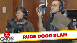 Rude Door Slammers Prank