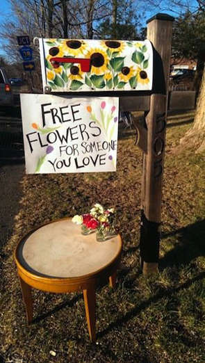 An anonymous donor set out free flowers to spread the love on Valentine's Day.
