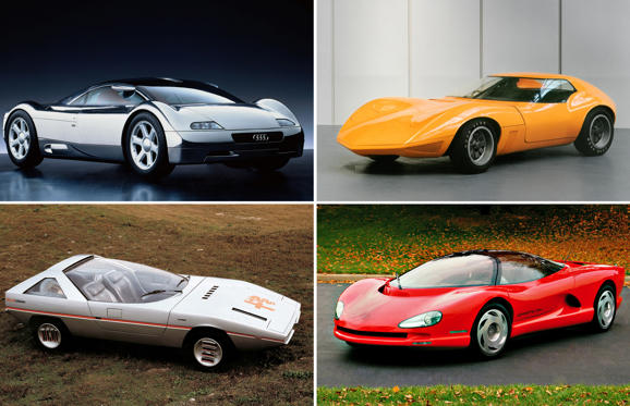 슬라이드 1/21: Beautiful, bold, brash… and never built. We take a look at some of the most luscious (and ludicrous) concept cars from years gone by, and wonder why we never got a chance to take them for a spin.