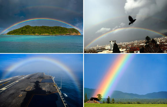 Bild 1 av 32: Colors everywhere: Rainbow photos from around the world