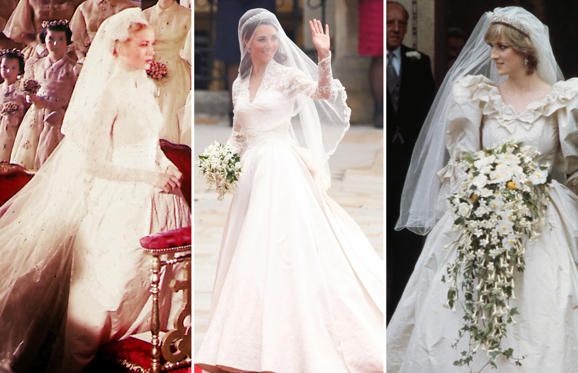 Slide 1 of 29: Royal wedding dresses through the years