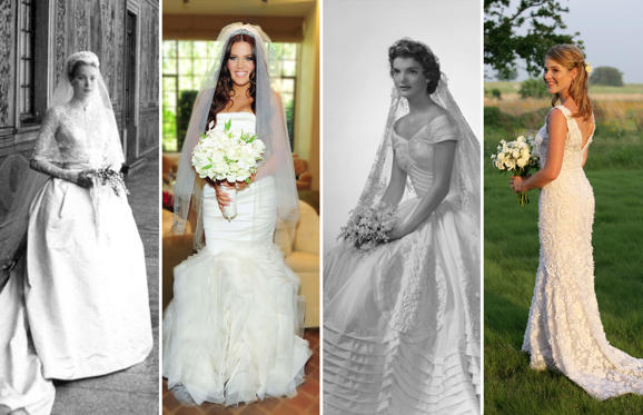 Slide 1 of 23: Celebrity wedding dresses