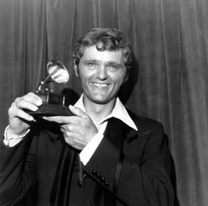 Jerry Reed holds his award at the 44th Annual Grammy Award presentation and dinner in New York City, March 14, 1972 .