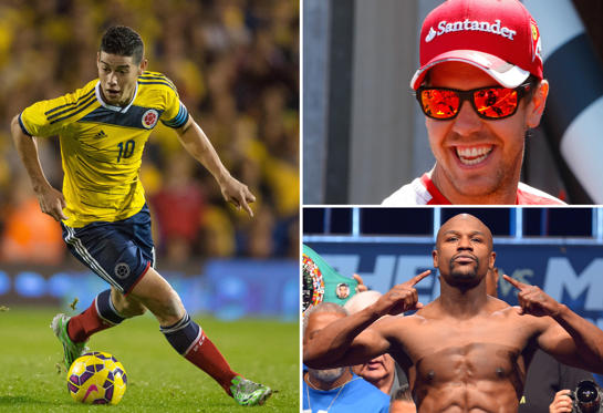 Lysbilde 1 av 31: Forbes list of world's highest-paid athletes 2015