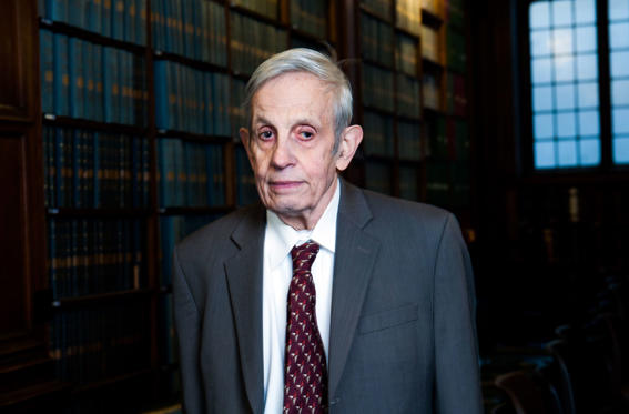John Forbes Nash speaking at the Oxford Union, Oxford, Britain - 01 Mar 2014