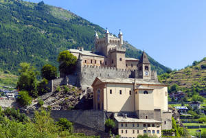 Saint-Pierre Castle in Italy. Italy is home to stunning castles where you can actually stay.