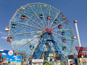 Deno's Wonder Wheel Amusement Park at Coney Island.