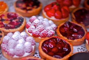 French cuisine is famous for its pastries and fresh Mediterranean products.