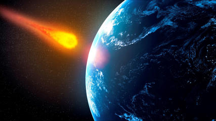 Near-Earth asteroid, artwork.