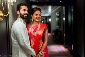Cricketer Dinesh Karthik and squash player Deepika Pallikal during their wedding ceremony in Chennai.