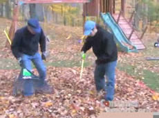 Leaf Cleanup: It's Man vs. Machine