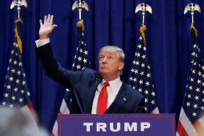 U.S. Republican presidential candidate, real estate mogul and TV personality Donald Trump waves as the crowd cheers after he said that he is going to run for the 2016 Republican presidential nomination during an event at Trump Tower in New York June 16, 2015.