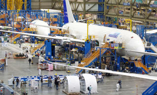 File: A Boeing 787 Dreamliner sits on the assembly line June 13, 2012 at the Boeing Factory in Everett, Washington.