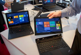 Lenovo's ThinkPad Helix is a convertible laptop, which can switch between both tablet and PC.