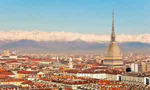 The National Museum of Cinema dominates Turin's skyline.