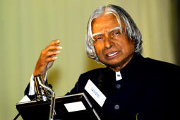 "File: The President of India A P J Abdul Kalam speaks after inaugurating ""India Telecom 2006"", in New Delhi, India on Thursday, December 14, 2006."