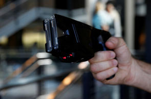 The Taser X2 electronic weapon is displayed for a photograph at the Taser International Inc. manufacturing facility in Scottsdale, Arizona, U.S.