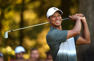 Tiger Woods is introduced on the tenth hole during the second round of the Quicken Loans National at Robert Trent Jones Golf Course on July 31, 2015 in Gainesville, Virginia.