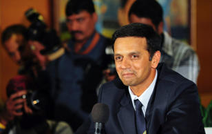 Indian cricket player Rahul Dravid speaks to the media as he announces his retirement from international cricket at the Chinnaswamy Stadium in Bangalore March 9, 2011.