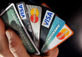 File photo of consumer credit cards.