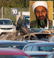 Questions raised over why state-of-the-art jet carrying three relatives of Osama Bin Laden came down at end of long runway at Blackbushe airport