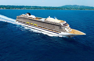 Artist rendering of the 928-passenger Viking Star, the first new ocean ship from Viking Cruises.