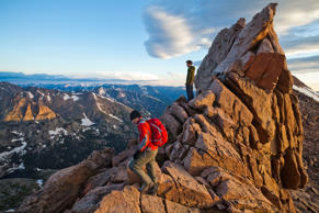 Hikers at Rocky Mountain National Park, Colorado. Ethan Welty/Getty Images