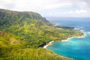 Rugged green coastline of Kauai and Na Pali coast. Moment/Getty Images