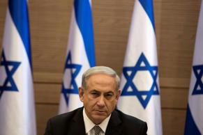 File: Israel's Prime Minister Benjamin Netanyahu heads a cabinet meeting in Jerusalem July 24, 2014.