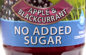 Label on no added sugar fruit squash drink