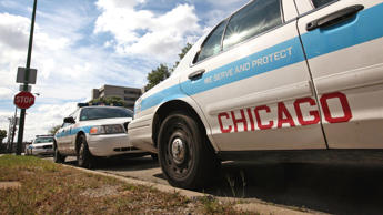 Chicago police cars sit outside a police station September 8, 2011 in Chicago, Illinois. Scott Olson/Getty Images