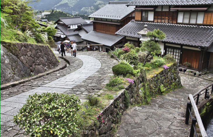 Nakasendo trail in Magome old town.
