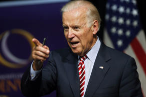 In this July 21, 2015, file photo, Vice President Joe Biden speaks during a roundtable discussion at the Advanced Manufacturing Center at Community College of Denver.