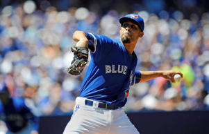 Toronto Blue Jays opening pitcher David Price pitches in the first inning against Minnesota Twins at Rogers Centre on Aug. 3 in Toronto.