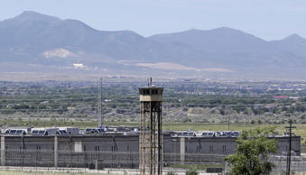This June 18, 2015, file photo, shows a watch tower at the Utah State Correctional Facility, in Draper, Utah.
