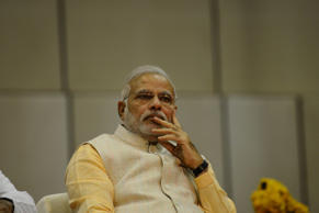 File: Indian prime minister-elect and Bharatiya Janata Party (BJP) leader Narendra Modi looks on during the oath taking cermony of the new Chief Minister of the western state of Gujarat Anandiben Patel at the Mahatma Mandir in Gandhinagar, some 30 kms from Ahmedabad on May 22, 2014.