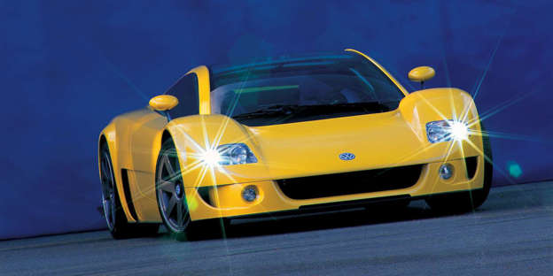 It looked production ready, it was tested at Nardo where it set records, and it looked like people would be buying it. But VW never put it into production. Instead, it, along with other concepts from Bentley and Audi, serves as inspiration for the Bugatti Veyron.