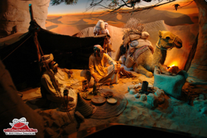 One of the detailed scenes on the dark ride in Khalifa Park.