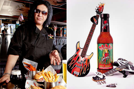 Gene Simmons of the Rock & Brews restaurant chain and Mad Anthony's hot sauce