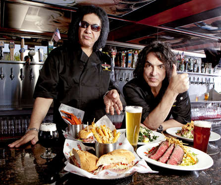 (From left) Gene Simmons and Paul Stanley of the Rock and Brews restaurant chain