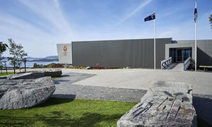 The exterior of the National Anzac Centre.
