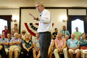 Former Florida Governor and Republican candidate for president Jeb Bush speaks at a VFW town hall event in Merrimack, New Hampshire, August 19, 2015.